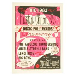 1983 Austin Chronicle Music Awards #2 Poster