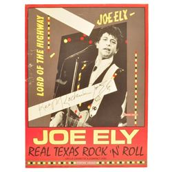 Joe Ely Signed Album Release Poster