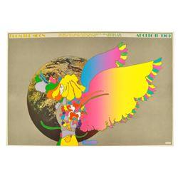 "Original Peter Max ""Apollo II"" Poster 1969"