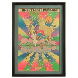 "1968 Peter Max ""Different Drummer"" Original Poster"