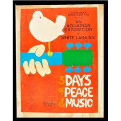 Original Woodstock Concert Poster