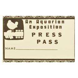 Original Woodstock Press Pass