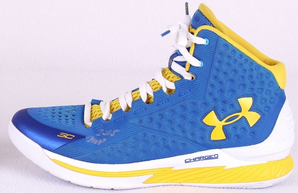 491e94a7caa3 Image 1   Stephen Curry Signed Warriors Under Armour Game Model Basketball  Shoe Inscribed