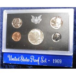 1969 S U.S. Silver Proof Set. Original as issued.