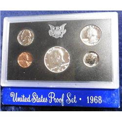 1968 S U.S. Silver Proof Set. Original as issued.
