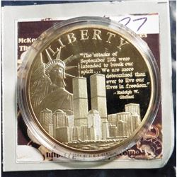 2011 American Mint Medal The American Spirit Remembering 9/11 - Liberty Coin. Material: Cu, layered