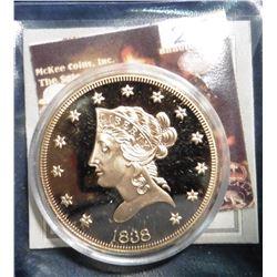 1838 S U.S. Gold Classic Liberty Eagle Coin Replica. Material: Cu, layered in 24k Gold; Quality: Pro