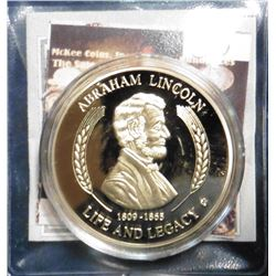 2011 Life of Abraham Lincoln - Emancipation Proclamation Medal. Material: Cu, layered in 24k Gold; Q
