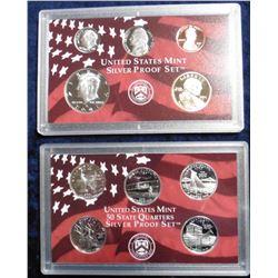 2001 S U.S. Statehood Quarters Silver Proof Set. Original as issued.