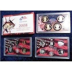 2008 S U.S. Statehood Quarters Silver Proof Set. Original as issued.