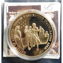 2009 The Birth of Our Nation - Washington's Inauguration Medal. Material: Cu, layered in 24k Gold; Q
