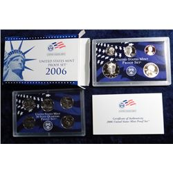 2006 S U.S. Proof Set. Original as issued in packing box