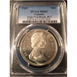 1965 Canada Dollar PCGS MS61 Type 3  LB BL5
