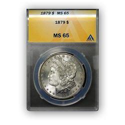 1879-S $1 Morgan Silver Dollar - ANACS MS65
