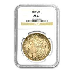 1880-S $1 Morgan Silver Dollar - NGC MS63