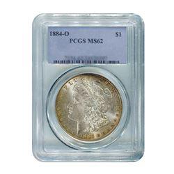 1884-O $1 Morgan Silver Dollar - PCGS MS62