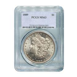 1889 $1 Morgan Silver Dollar - PCGS MS63