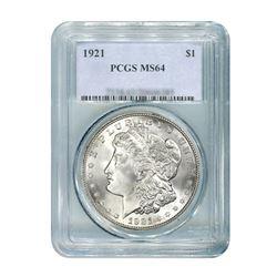 1921 $1 Morgan Silver Dollar - PCGS MS64