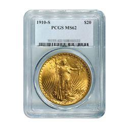 1910-S $20 Saint Gaudens PCGS MS62