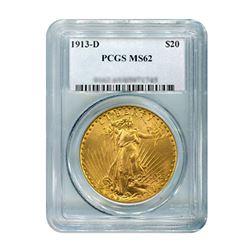 1913-D $20 Saint Gaudens PCGS MS62