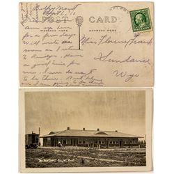 Belfry, Montana Real Photo Postcard of New Railroad Depot