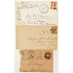Cooke, Park Collection of Three Different Cancels