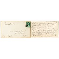 Dearborn, Lewis & Clark First Period Manuscript Territorial Cover with Letter