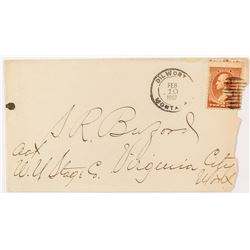 Dilworth, Carbon US  Stage 1887 Cancel