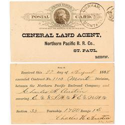 Gorham, Cascade Rare Postal Card Cover