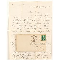 Helmville, Powell Letter and Cover