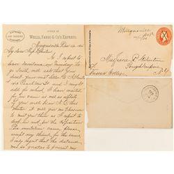 Mingusville, Wibaux Manuscript Cover & Wells Fargo Letter