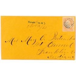 Nevada City, Madison - Earliest Straight Line Cancel