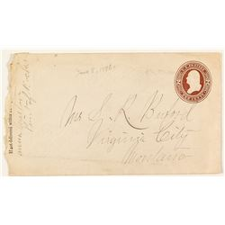 Point of Rocks, Beaverhead, Scarce Manuscript Cancel