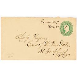 Power, Lewis & Clark Rare Manuscript Cancel