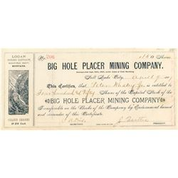 Big Hole Placer Mining Co. Stock Certificate
