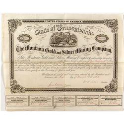The Montana Gold & Silver Mining Company Bond