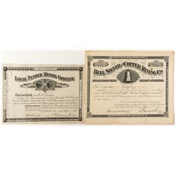 Two Territorial Montana Mining Stock Certificates