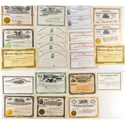 Unissued Montana Railroad and Non-Mining Stock Certificates