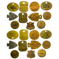 Anaconda Copper Mining Co. Tags & Souvenir Pieces