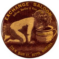 Exchange Saloon Advertising Mirror