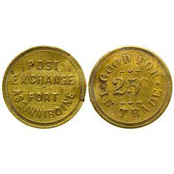 Post Exchange, Fort Assinniboine Token