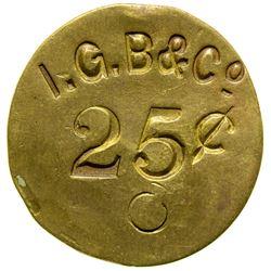 I.G.B. & Co., Indian Trader, Territorial Token (Ft. Benton, Montana)