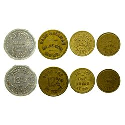 Four Glasgow Tokens