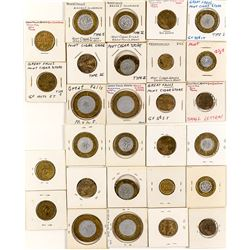 Fourteen Mint Cigar Store Tokens (Cascade County)
