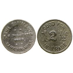 The Tammany Saloon Token