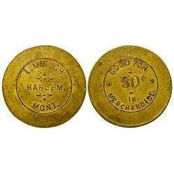 L. Minugh, Indian Trader, Token (50c)