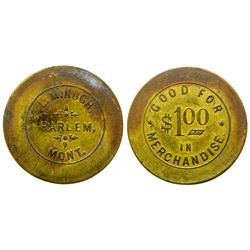 L. Minugh, Indian Trader, Token ($1)