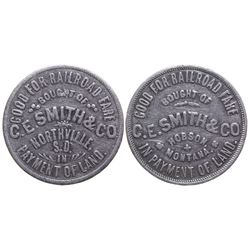C. E. Smith & Co. Railroad Fare Token (Judith Basin County)