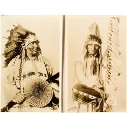 Two Native American Real Photo Postcards
