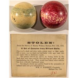 Two Billiard Balls and a Stolen Notice